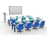 3d person with pointer in hand close to board, concept of educat